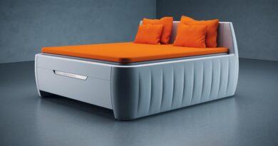 futuristická postel