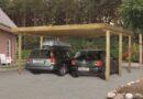 Dřevěný přístřešek ochrání vaše auto před nepříznivým počasím