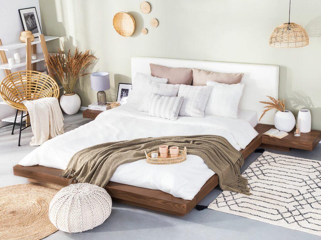 Dřevěná japonská postel ZEN